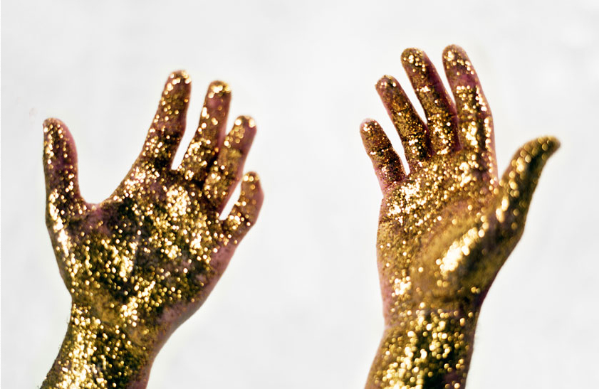 Golden hands image