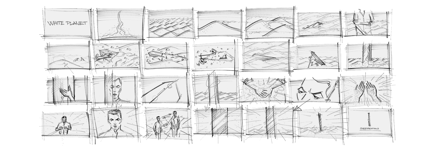 Storyboard Of White Planet image